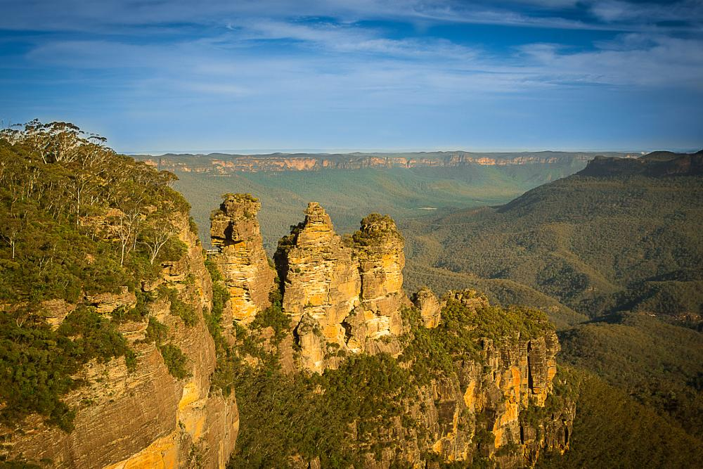 Photo in Landscape #three sisters #blue mountains #mountains #rock formations #landscape