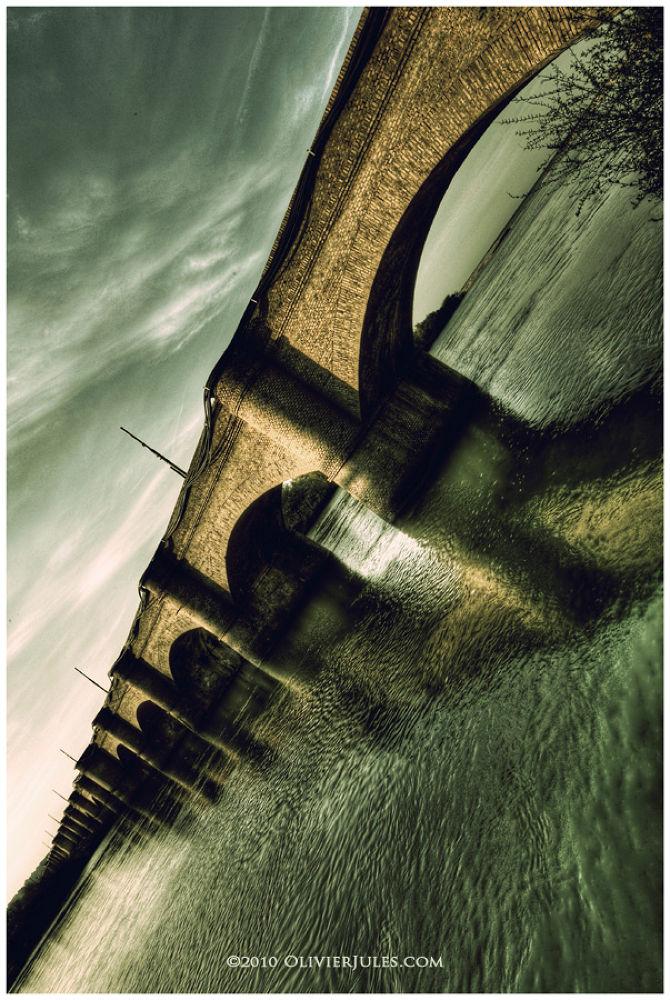 Photo in Architecture #bridge #pinte #torino #ponte #sangro #abruzzo #hdr #river #fiume #acqua #water #green
