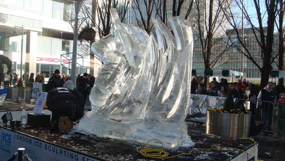 Photo in Street Photography #peter lyons #ice sculpture #london