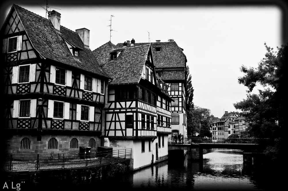 Photo in Architecture #ypa2013 #strasbourg #petite france #black and white #france #sony