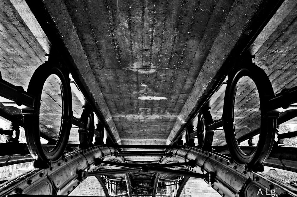 Photo in Black and White #ypa2013 #bridge #strasbourg #black and white #sony #france