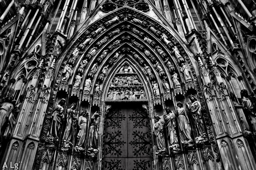 Photo in Architecture #ypa2013 #strasbourg #cathedral #god's house #france #black and white