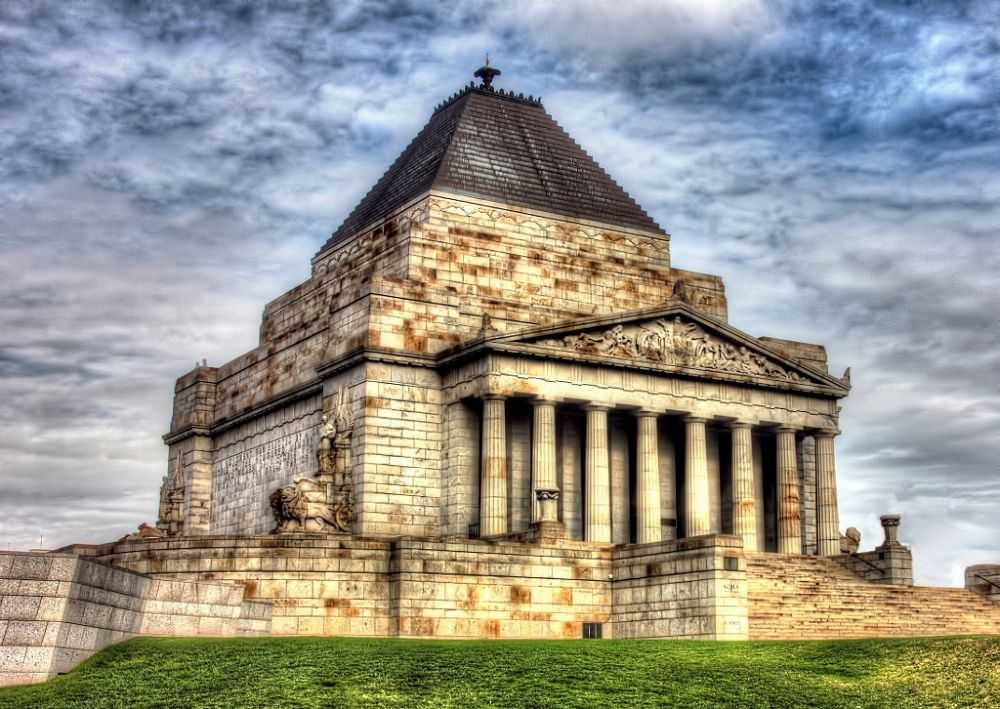 Photo in Architecture #history #war memorial #melbourne #building #hdr