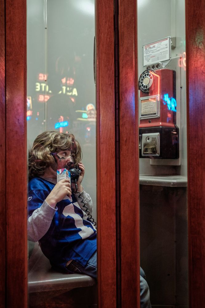 Photo in People #people #portrait #fun #super #bowl #football #phone #booth #art #children #youth #superhero #star wars #darth maul #antiques