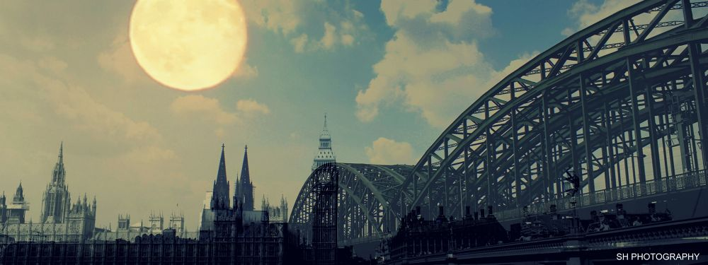 Photo in Abstract #köln #london #cologne #brodge #bridge #inspiration #moon