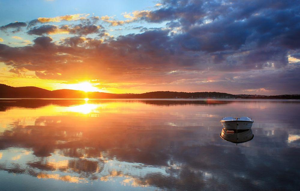 Photo in Landscape #croatia #medulin #nature #landscape #sunset #sky #sea