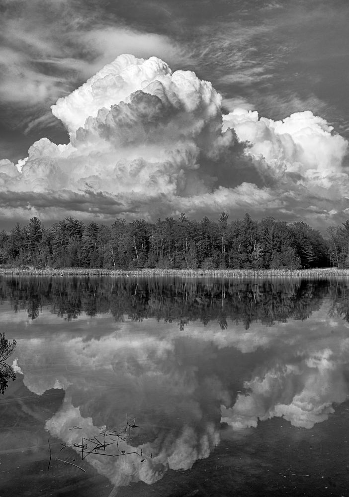Photo in Black and White #michigan #torchriver #clouds
