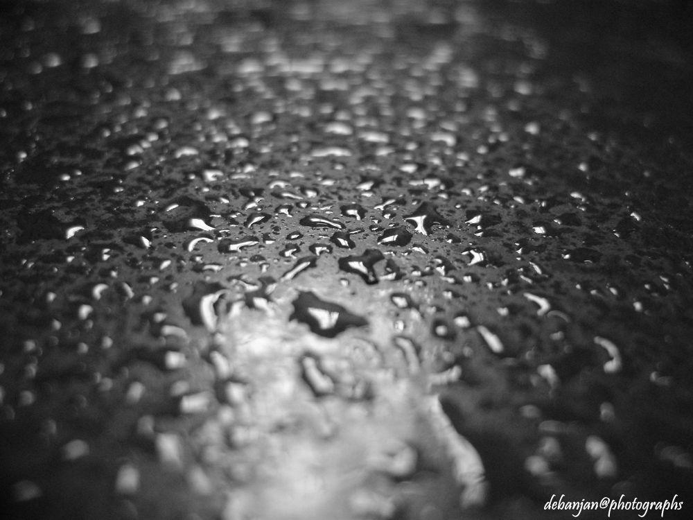 Photo in Macro #water #water drop #macro #black & white