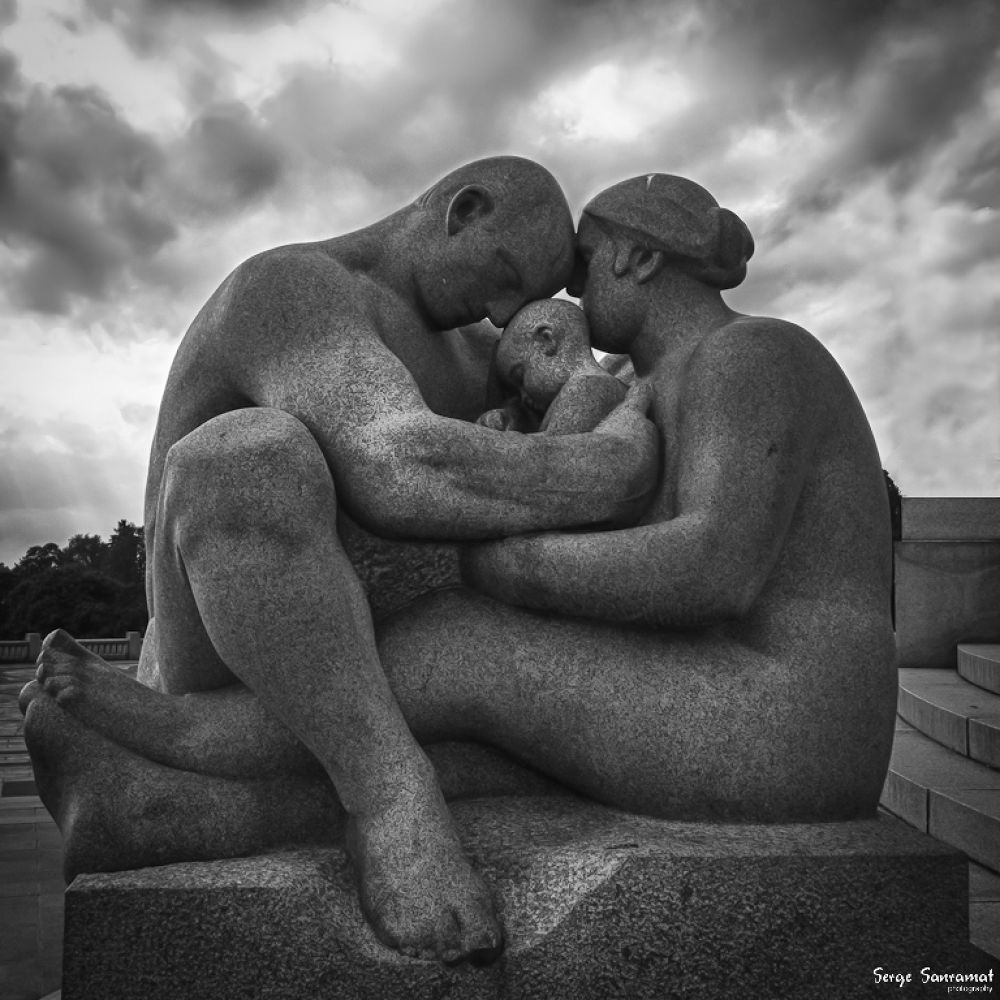 Photo in Black and White #vigaland #sculpture #vigaland park #caring #tlc #ypa2013