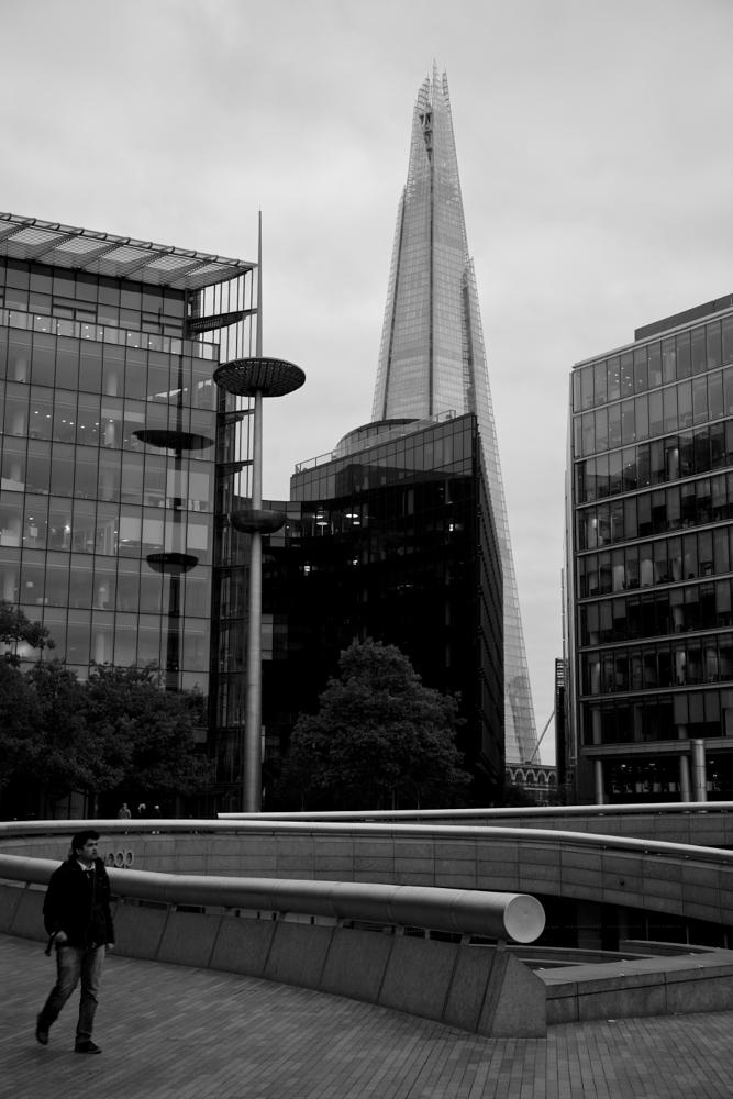 Photo in Black and White #london #pedestrian #skyline