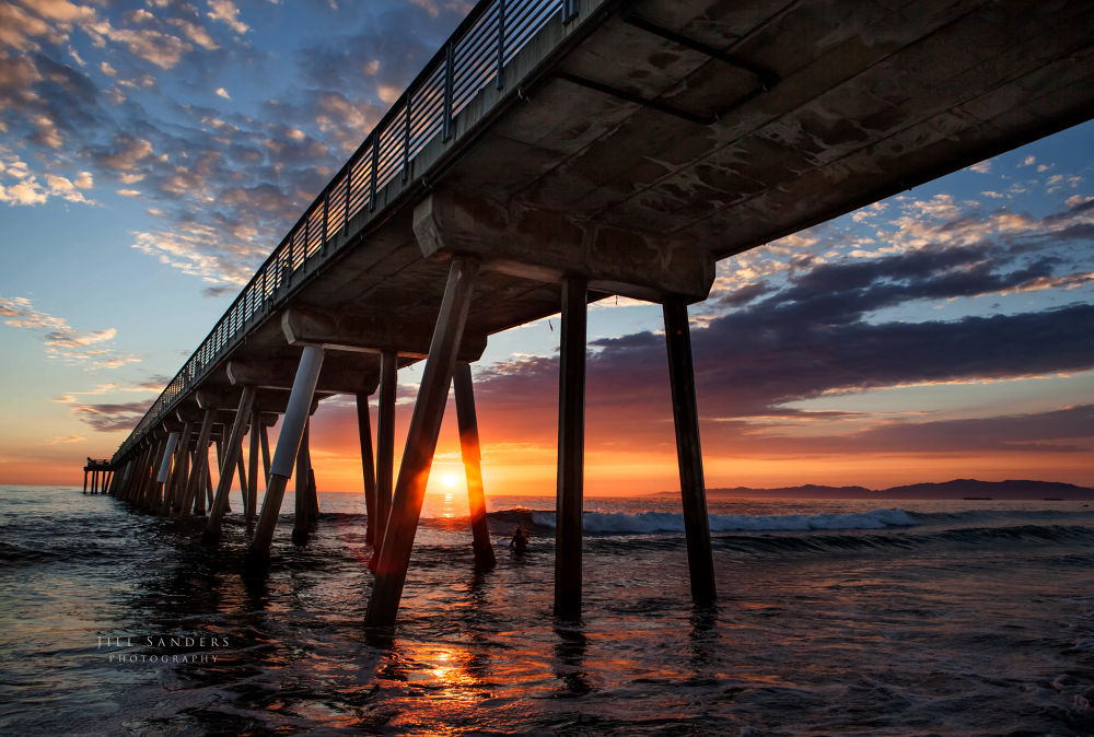 Photo in Sea and Sand #hermosa beach #pacific ocean #sunset #south bay #california #pier #jillfoto #jill sanders