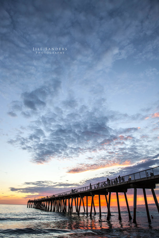 Photo in Sea and Sand #jillfoto #jill sanders #hermosa beach #pacific ocean #california #pier #sunset