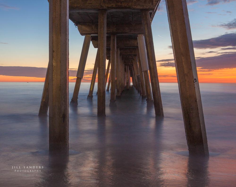Photo in Sea and Sand #hermosa beach #jillfoto #jill sanders #pacific ocean #california #sunset #pier #ocean
