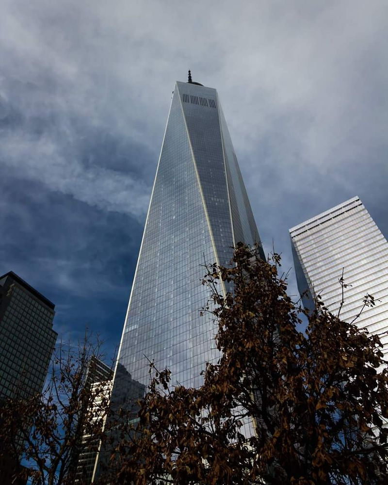Photo in Architecture #street photography #architecture #urban #freedom tower #new york city #new york #usa #nyc #icon #iconic #blue sky