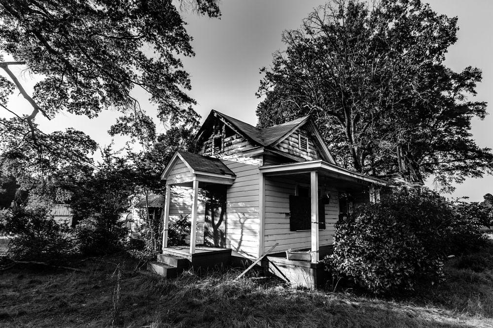Photo in Street Photography #abandoned #house #burnt #charlotte #north carolina #usa #street photography #black and white
