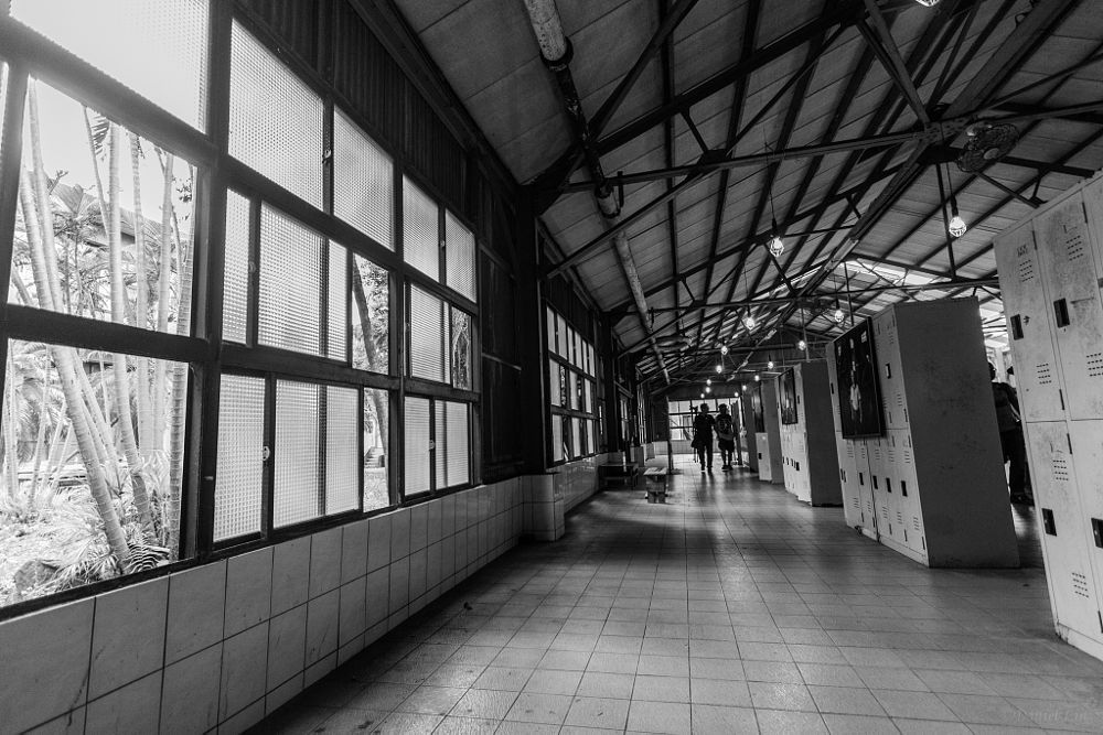 Photo in Black and White #locker #room #locker room #black and white #memory