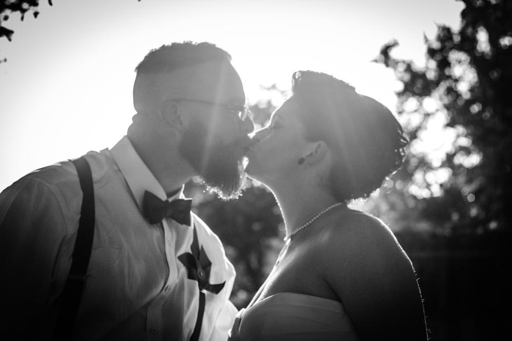 Photo in Wedding #wedding #love #kiss #monochrome