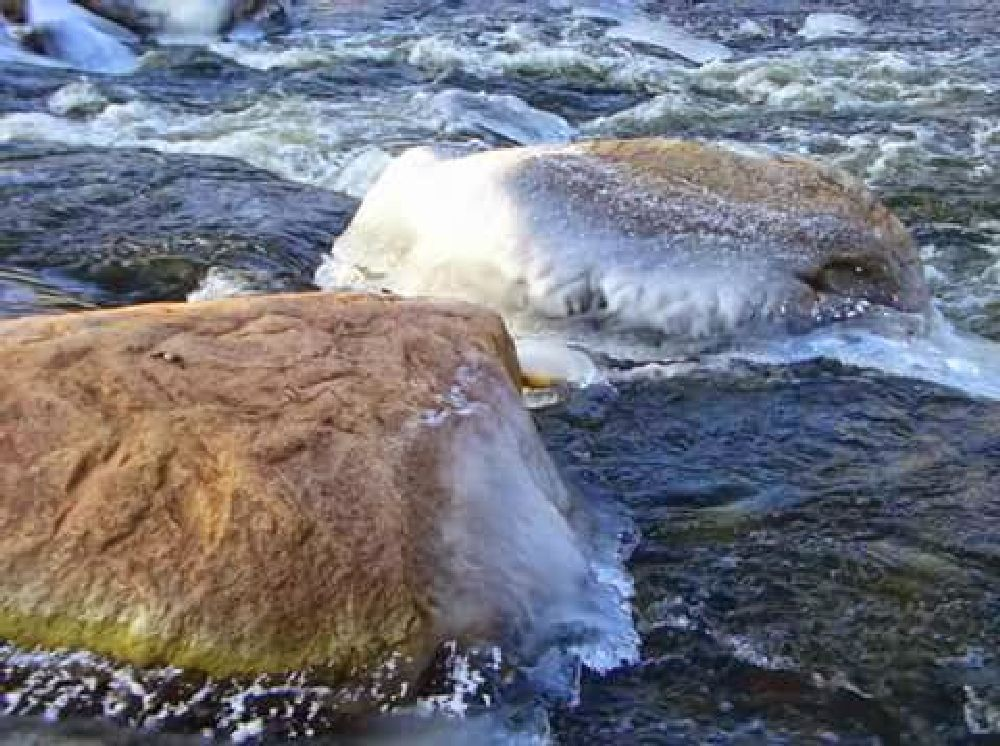 Photo in Nature #water #stones #ice #nature