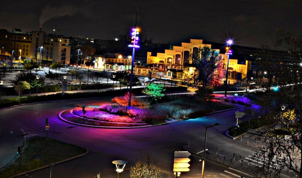 Photo in Cityscape #street #lyon #france #low light #panning #night