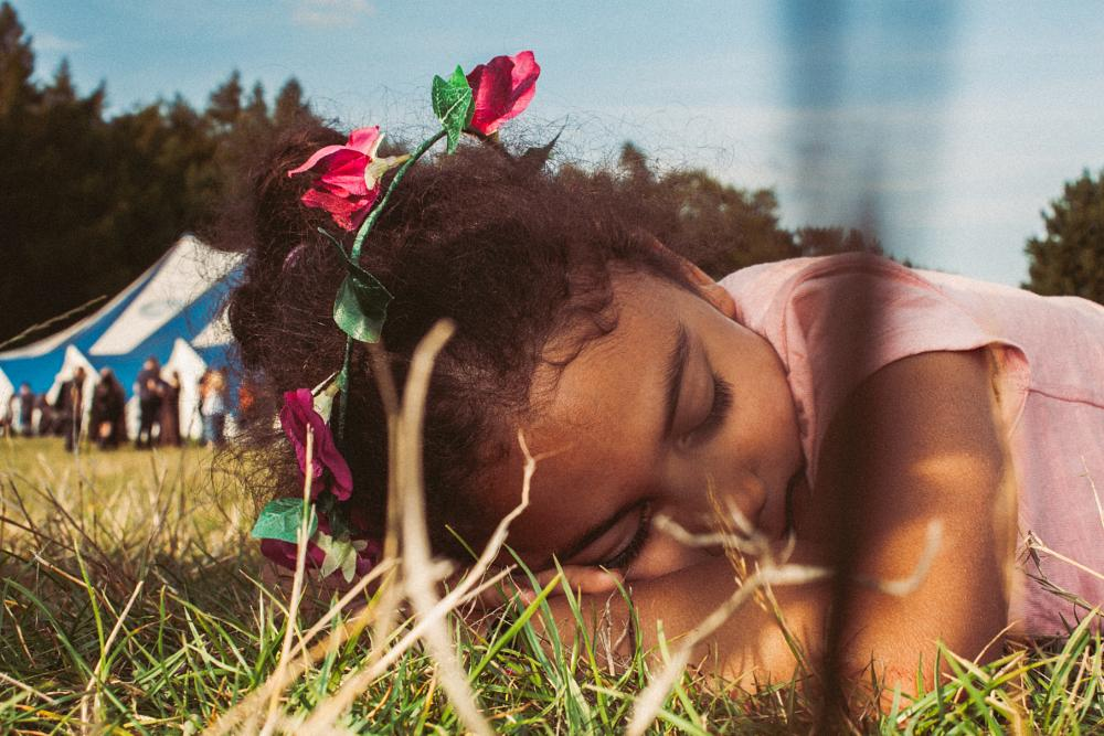 Photo in People #sleeping #children #pagan #camping #summer #festival