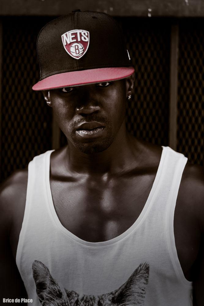 Photo in Portrait #portrait #reggea #arist #black and white #tanktop #canon #black man