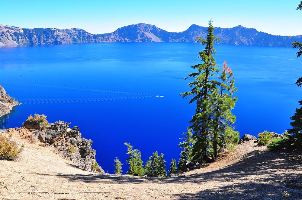 Photo in Landscape #crater lake national park #crater lake #blue lake #volcano lake #hiking