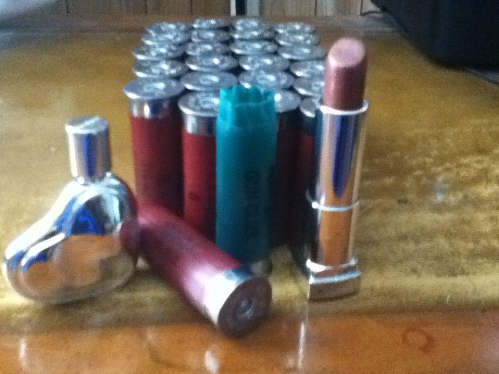 Photo in Random #ammo #ammunition #lipstick #purfume #shotgun #shells