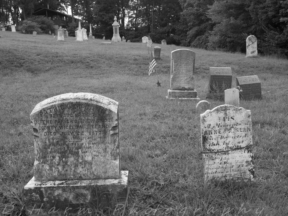 Photo in Black and White #graves #cemetary #death #buried #old #headstone