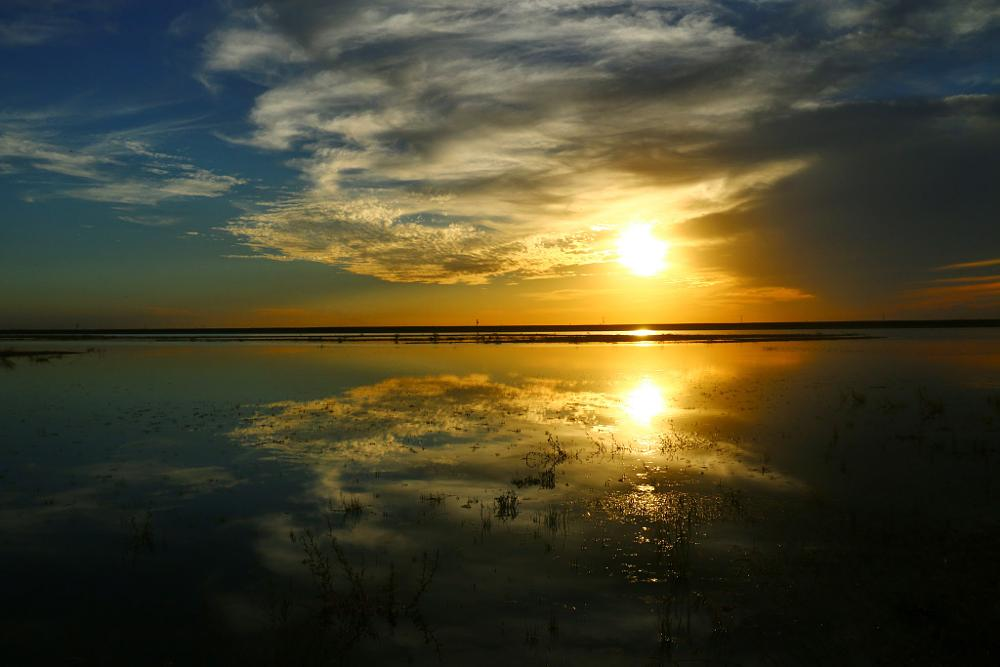 Photo in Landscape #lake #sun #jmg #sunset #cali #nature #landscape #outdoors #reflection #mirror #red #water #aquatic