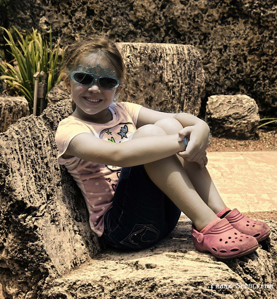 Photo in Architecture #child #girl #coral castle #homestead #florida