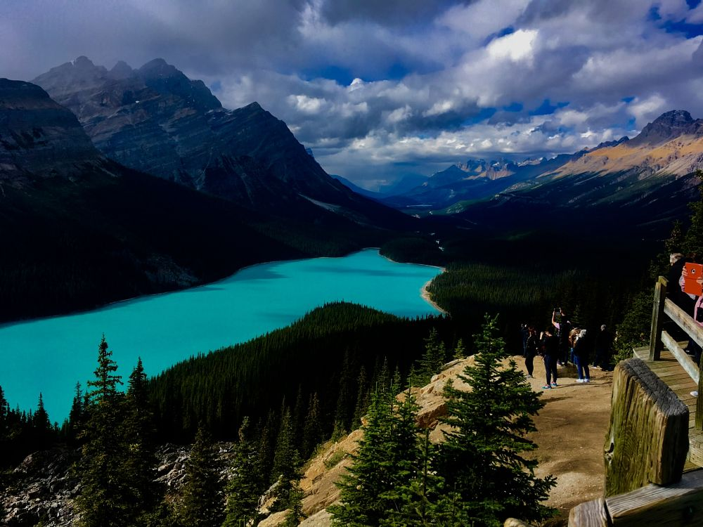 Photo in Landscape #rocky #mountains #lake #peyto #storm #clouds #shadows