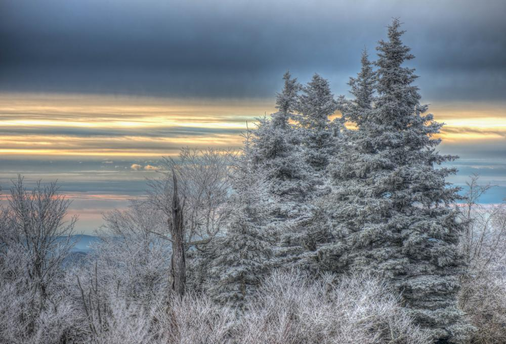 Photo in Landscape #blue ridge parkway #mountains #ice