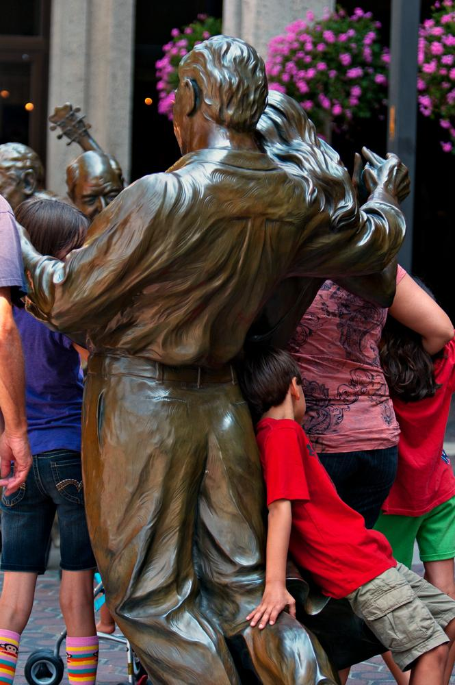 Photo in Street Photography #kids #statues #people #asheville #north carolina