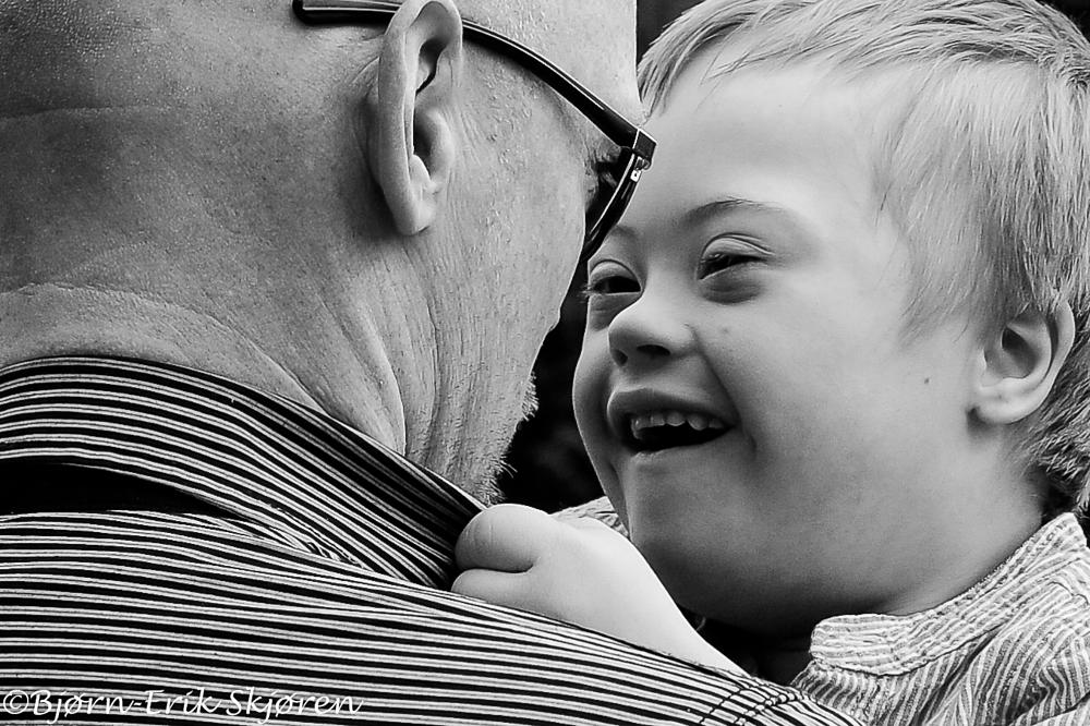 Photo in People #love #father #affection #b&w #portrait