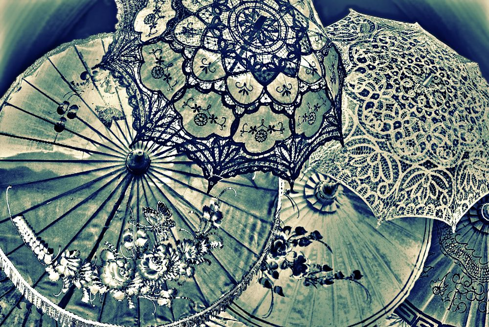 Photo in Abstract #parasols #duotone