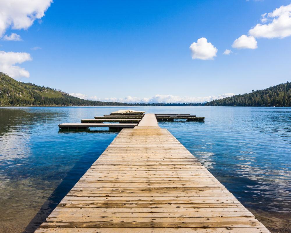 Photo in Random #dock #california #ca #fallen lake #lake tahoe #landscape #blue #water #lake #clear