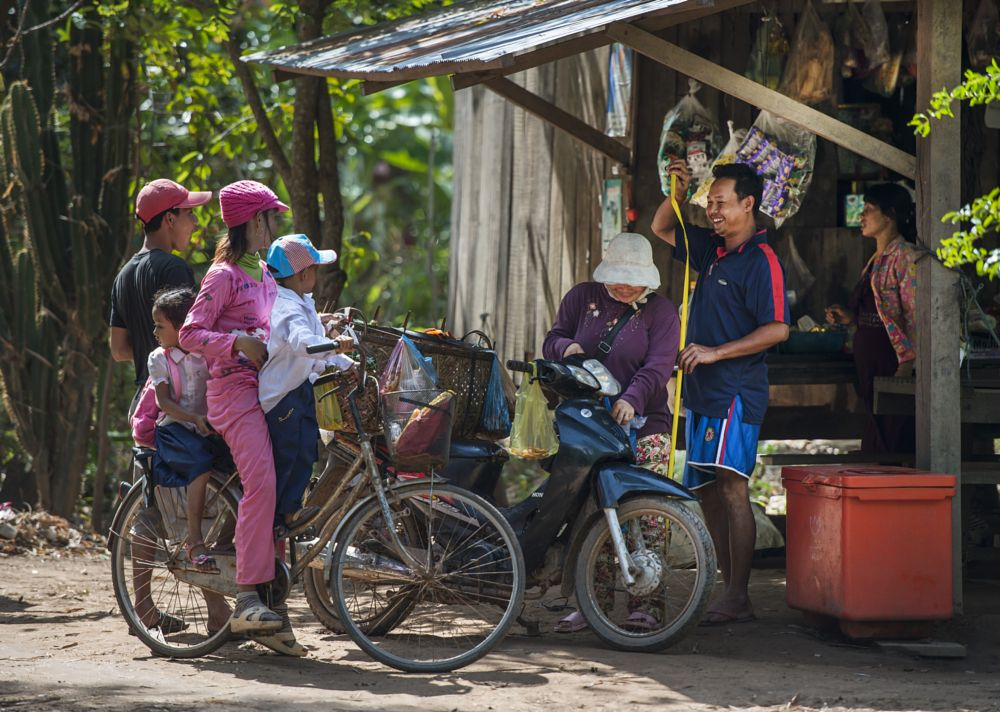 Photo in Street Photography #country side #cambodia #joking #shop