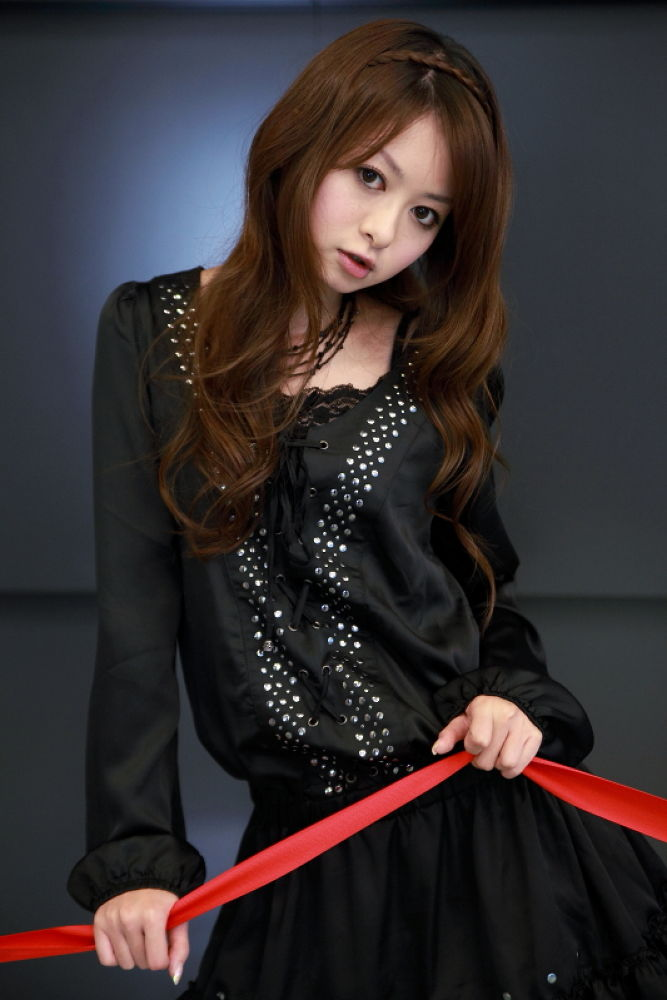 Photo in Portrait #young woman #red #black #kawaii