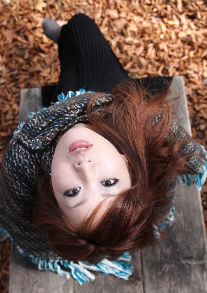 Photo in Random #young #woman #autumn #kawaii #mt.zao #japan