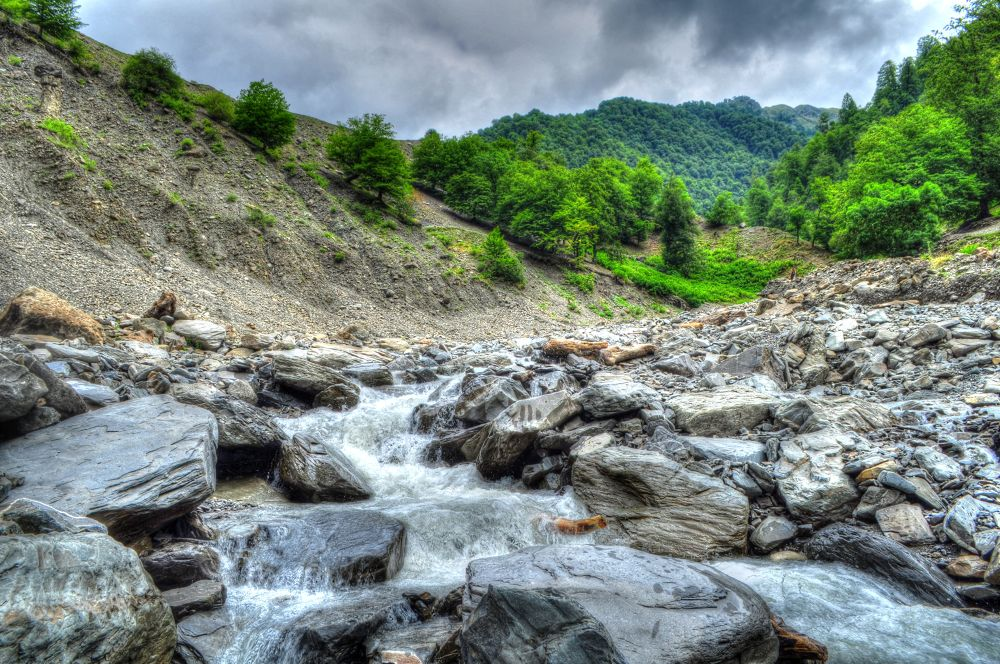 Photo in Landscape #az #azerbaijan #russia #river #mountain #stone