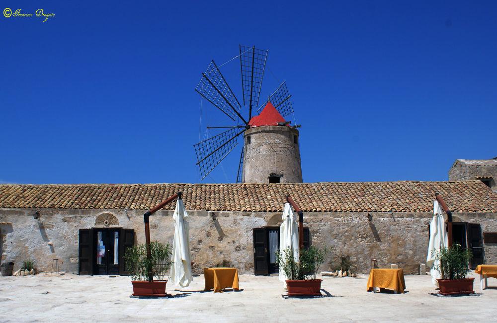 Photo in Landscape #saline #museo #trapani #sicilia #italia #mulino