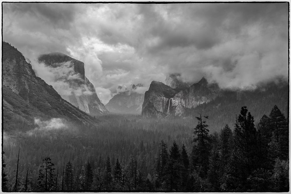 Photo in Landscape #tunnel view #yosemite #black and white