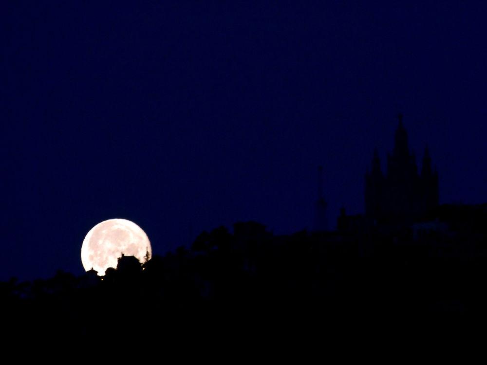 Photo in Cityscape #moon #tibidabo #llado