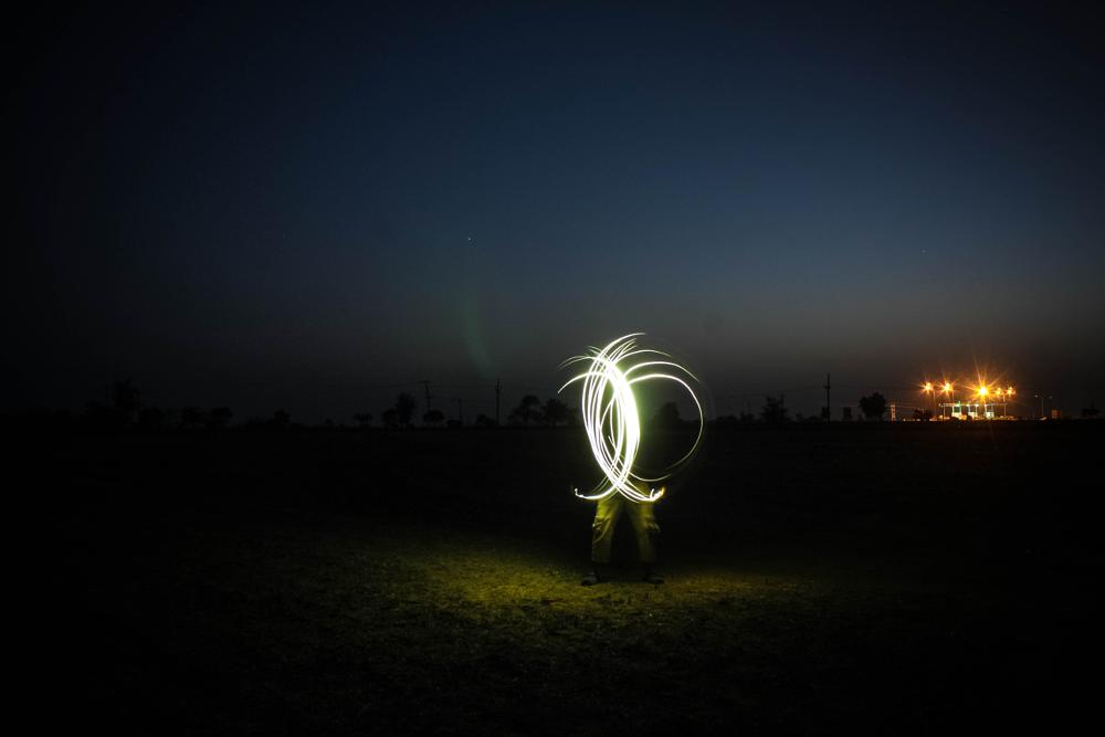 Photo in Astrophotography #bulb #longexposure #lights #night #people #places