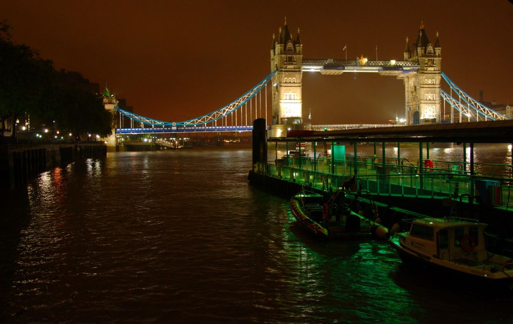 Photo in Cityscape #tower bridge #london #bridge #river #river thames #night shoot #rain