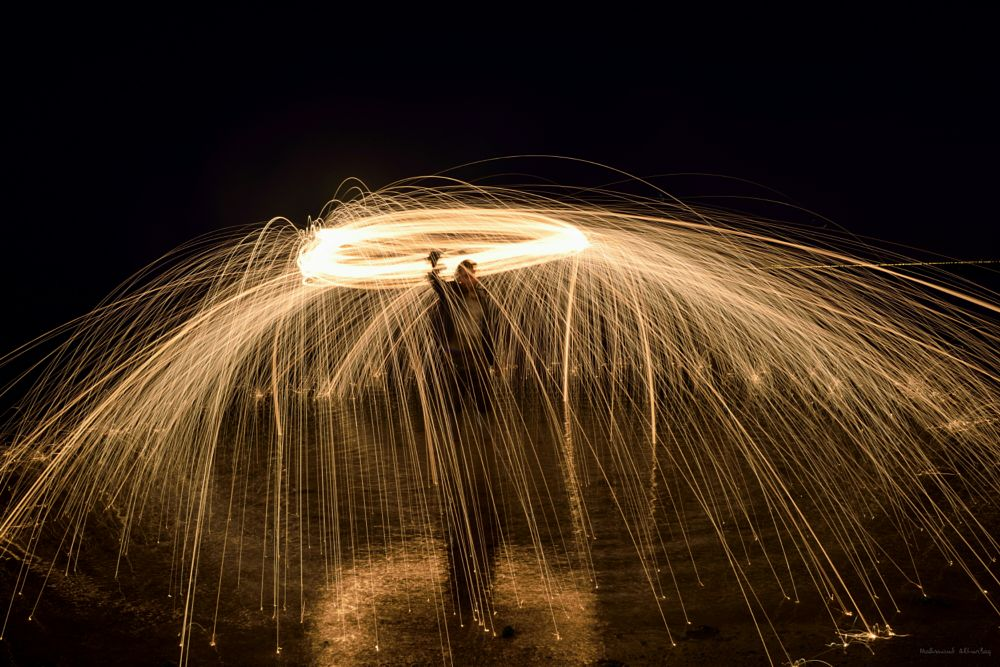 Photo in Random #steelwool #beach #fire work