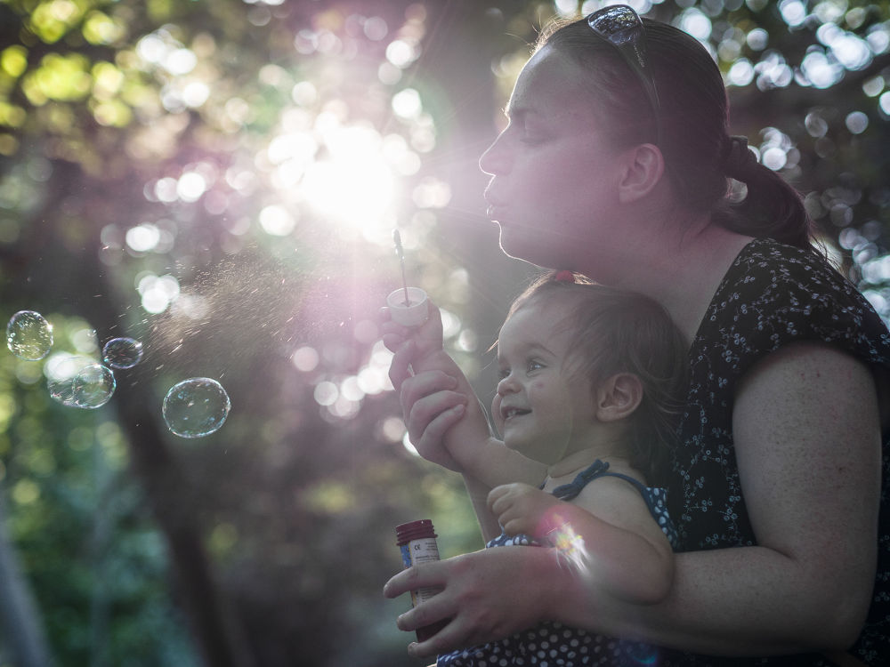 Photo in Family #family #mother #child #soap #bubbles