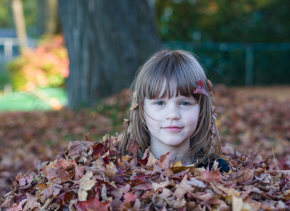 Photo in Portrait #fall #autumn #leaves #child #kid