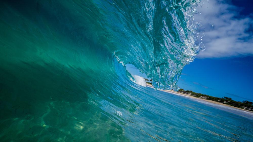 Photo in Nature #australia #surf #waves #water #sea #ocean #blue #land #sand #trees #coastline #beach #winter #clarity #sky #sony #nex 5n