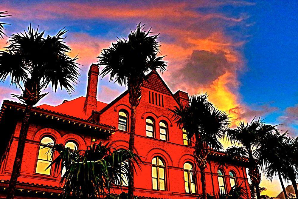 Photo in HDRI #customs house #key west #florida #mark drais #sunset